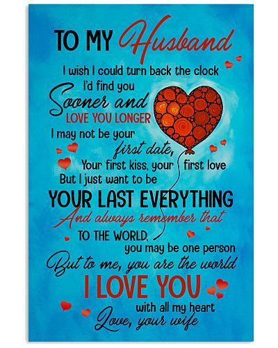 TO MY HUSBAND - HEART - TO ME YOU'RE THE WORLD