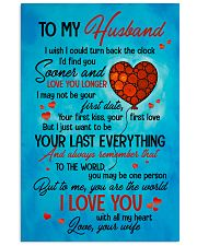 TO MY HUSBAND - HEART - TO ME YOU'RE THE WORLD 16x24 Poster front