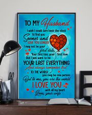 TO MY HUSBAND - HEART - TO ME YOU'RE THE WORLD 16x24 Poster lifestyle-poster-2