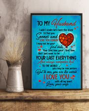 TO MY HUSBAND - HEART - TO ME YOU'RE THE WORLD 16x24 Poster lifestyle-poster-3