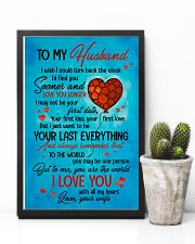 TO MY HUSBAND - HEART - TO ME YOU'RE THE WORLD 16x24 Poster lifestyle-poster-8