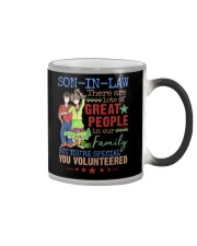 SON-IN-LAW - HIPPIE - VINTAGE - YOU VOLUNTEERED Color Changing Mug thumbnail