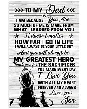 SON TO DAD 16x24 Poster front