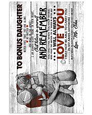 To Bonus Daughter - Canvas 11x17 Poster thumbnail