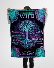 """Husband To Wife - Tree - Meeting you was fate Small Fleece Blanket - 30"""" x 40"""" aos-coral-fleece-blanket-30x40-lifestyle-front-14"""