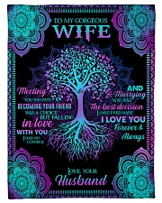 """Husband To Wife - Tree - Meeting you was fate Small Fleece Blanket - 30"""" x 40"""" front"""