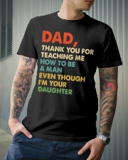 Dad Thank you for teaching me  Classic T-Shirt lifestyle-mens-crewneck-front-6