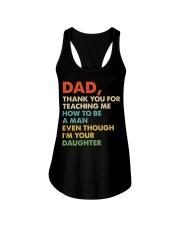 Dad Thank you for teaching me  Ladies Flowy Tank thumbnail