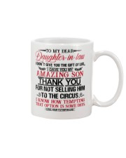 DAD TO DAUGHTER IN LAW Mug front