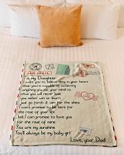 """Gift For Daughter - Fleece Blanket blye Small Fleece Blanket - 30"""" x 40"""" aos-coral-fleece-blanket-30x40-lifestyle-front-04"""
