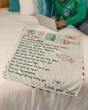 """Gift For Daughter - Fleece Blanket blye Small Fleece Blanket - 30"""" x 40"""" aos-coral-fleece-blanket-30x40-lifestyle-front-07"""