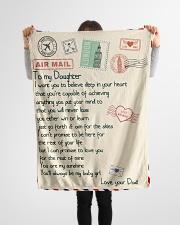 """Gift For Daughter - Fleece Blanket blye Small Fleece Blanket - 30"""" x 40"""" aos-coral-fleece-blanket-30x40-lifestyle-front-14"""