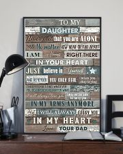 To My Daughter - Never Feel That You Are Alone 16x24 Poster lifestyle-poster-2