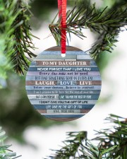 Mom To Daughter - Never Forget That I Love You Circle ornament - single (porcelain) aos-circle-ornament-single-porcelain-lifestyles-07