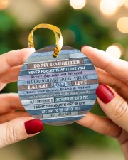 Mom To Daughter - Never Forget That I Love You Circle ornament - single (porcelain) aos-circle-ornament-single-porcelain-lifestyles-08