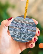 Mom To Daughter - Never Forget That I Love You Circle ornament - single (porcelain) aos-circle-ornament-single-porcelain-lifestyles-09