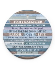 Mom To Daughter - Never Forget That I Love You Circle ornament - single (porcelain) front