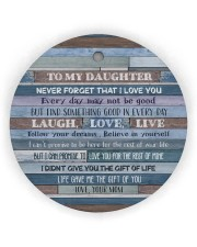 Mom To Daughter - Never Forget That I Love You Circle ornament - single (wood) thumbnail