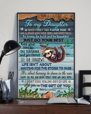 POSTER - TO MY DAUGHTER - SLOTH - LOVE YOU 16x24 Poster lifestyle-poster-2