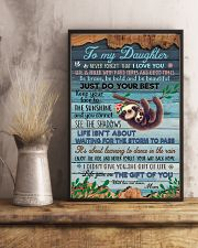 POSTER - TO MY DAUGHTER - SLOTH - LOVE YOU 16x24 Poster lifestyle-poster-3