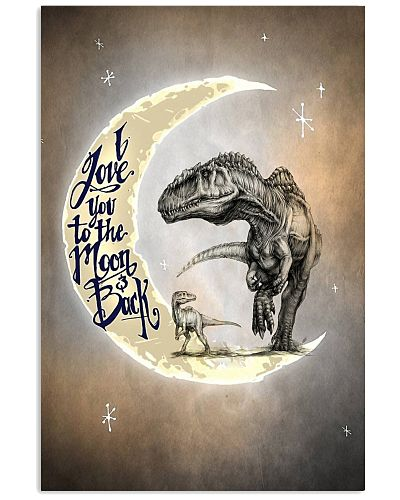 POSTER - T-REX - I LOVE YOU TO THE MOON AND BACK