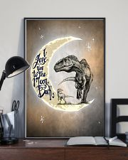POSTER - T-REX - I LOVE YOU TO THE MOON AND BACK 16x24 Poster lifestyle-poster-2