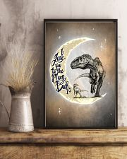 POSTER - T-REX - I LOVE YOU TO THE MOON AND BACK 16x24 Poster lifestyle-poster-3