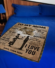 """To My Mom - Lioness Small Fleece Blanket - 30"""" x 40"""" aos-coral-fleece-blanket-30x40-lifestyle-front-02"""