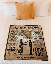 """To My Mom - Lioness Small Fleece Blanket - 30"""" x 40"""" aos-coral-fleece-blanket-30x40-lifestyle-front-04"""