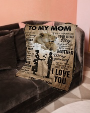 """To My Mom - Lioness Small Fleece Blanket - 30"""" x 40"""" aos-coral-fleece-blanket-30x40-lifestyle-front-05"""