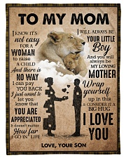 """To My Mom - Lioness Small Fleece Blanket - 30"""" x 40"""" front"""