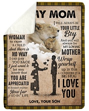 """To My Mom - Lioness Large Sherpa Fleece Blanket - 60"""" x 80"""" thumbnail"""