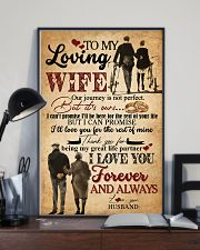 TO MY WIFE - HAND IN HAND - I LOVE YOU 16x24 Poster lifestyle-poster-2