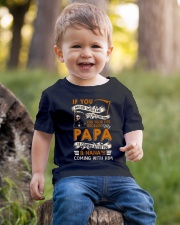 BECAUSE MY PAPA IS COMING AFTER YOU Youth T-Shirt lifestyle-youth-tshirt-front-4