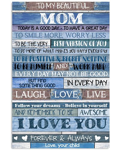 POSTER - TO MY MOM - BLUE - TODAY IS