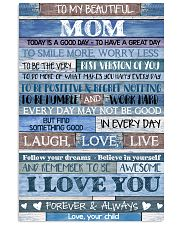 POSTER - TO MY MOM - BLUE - TODAY IS 16x24 Poster front