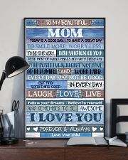 POSTER - TO MY MOM - BLUE - TODAY IS 16x24 Poster lifestyle-poster-2