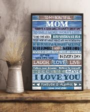 POSTER - TO MY MOM - BLUE - TODAY IS 16x24 Poster lifestyle-poster-3