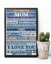 POSTER - TO MY MOM - BLUE - TODAY IS 16x24 Poster lifestyle-poster-8