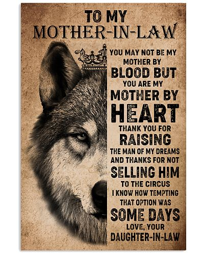 TO MY MOTHER-IN-LAW - WOLF - THANK YOU