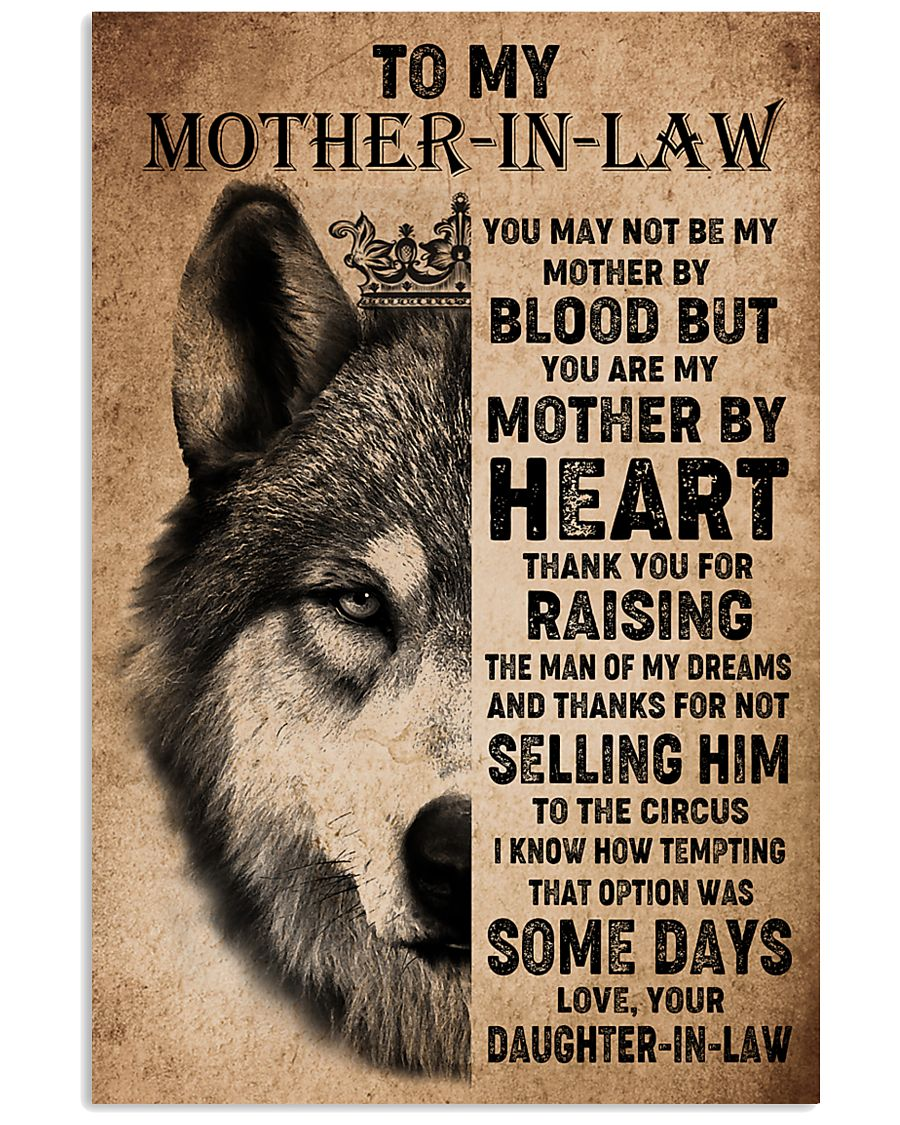TO MY MOTHER-IN-LAW - WOLF - THANK YOU 16x24 Poster