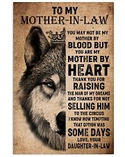 TO MY MOTHER-IN-LAW - WOLF - THANK YOU 16x24 Poster front