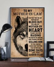 TO MY MOTHER-IN-LAW - WOLF - THANK YOU 16x24 Poster lifestyle-poster-2