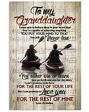 Grandpa to Granddaughter - Just Go Forth And Aim  16x24 Poster front