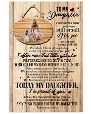 To Daughter - Hugging - I Sometimes Wish You Were 16x24 Poster front