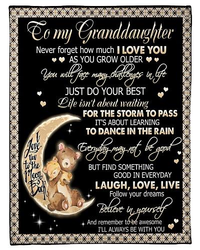 TO MY GRANDDAUGHTER - BEARS - I LOVE YOU