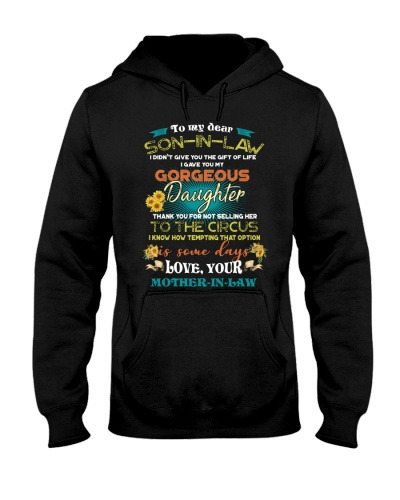 TO MY SON-IN-LAW - FUNNY T-SHIRT - CIRCUS