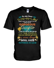 TO MY SON-IN-LAW - FUNNY T-SHIRT - CIRCUS V-Neck T-Shirt thumbnail