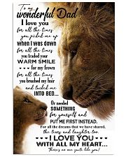 TO MY DAD - LION - I LOVE YOU FOR ALL THE TIMES 16x24 Poster front
