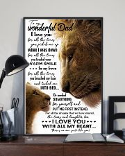 TO MY DAD - LION - I LOVE YOU FOR ALL THE TIMES 16x24 Poster lifestyle-poster-2